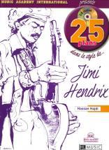 Hadji Hassan - 25 Plans Dans Le Style De... Jimi Hendrix + Cd - Guitare Electrique