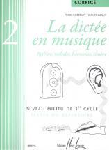 Chepelov P./ Menut B. - La Dictee En Musique Vol.2 - Corrige