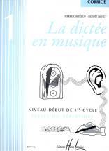 Chepelov P./ Menut B. - La Dictee En Musique Vol.1 - Corrige