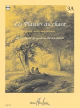 Bonnardot Jacqueline - Les Plaisirs Du Chant Vol.3a + Cd - Voix Moyenne, Piano