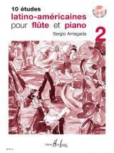 Arriagada Sergio - Etudes Latino-américaines (10) Vol.2 + Cd - Flute, Piano
