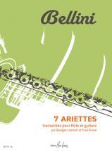 Bellini Vincenzo - Ariettes (7) - Flute, Guitare