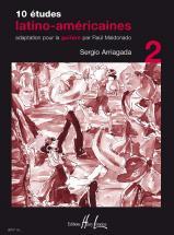 Arriagada Sergio - Etudes Latino-americaines (10) Vol.2 - Guitare