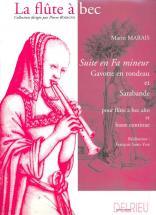 Marais Marin - Suite En Fa Min. - Flute A Bec Alto, Bc