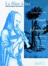 Carissimi Giacomo - Sonate En Re Min. - Flute A Bec, Basse Continue