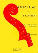 Romberg Bernhard-heinrich - Sonate N°1 En Sib Maj. - Violoncelle, Piano