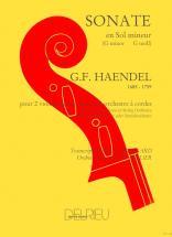 Haendel G.f. - Sonate En Sol Min. - 2 Violoncelles, Piano