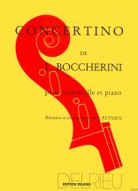 Boccherini Luigi - Concertino En Sol Maj. - Violoncelle, Piano