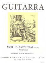 Batchelar - Courantes (3) - Guitare