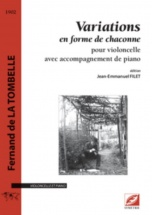 Fernand De La Tombelle - Variations En Forme De Chaconne - Violoncelle and Piano