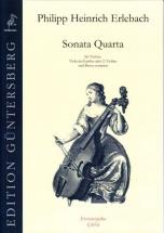 Erlebach Ph. H. - Sonata Quarta C Major - Violon, Vdg (v.) Et Bc