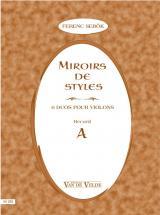 Sebok Ferenc - Miroirs De Styles Recueil A - 2 Violons