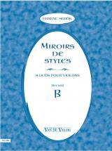 Sebok Ferenc - Miroirs De Styles Recueil B - 2 Violons