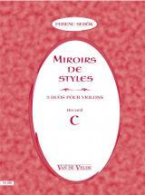 Sebok Ferenc - Miroirs De Styles Recueil C - 2 Violons