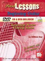 Bay William - First Lessons Beginning Guitar + Cd + Dvd - Guitar