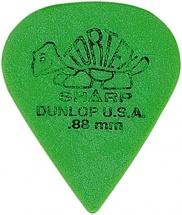 Dunlop Adu 412p88  -  Tortex Sharp Players Pack - 0,88 Mm (par 12)