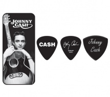 Dunlop Jcpt01m Boite En Metal De 6 Mediators Motif Johnny Cash Memphis