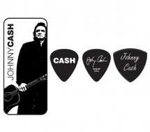 Dunlop Jcpt02h Boite En Metal De 6 Mediators Motif Johnny Cash Legend