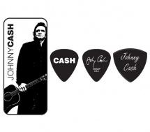 Dunlop Jcpt02h Boite En Metal De 6 Mediators Motif Johnny Cash Legend