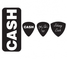 Dunlop Jcpt04h Boite En Metal De 6 Mediators Motif Johnny Cash Bold Heavy