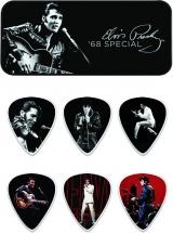 Dunlop Eppt02 Boite En Metal De 6 Mediators Motif Elvis Presley 68 Special