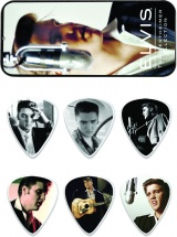 Dunlop Eppt03 Boite En Metal De 6 Mediators Motif Elvis Presley Wertheimer Collection