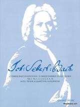 Bach J. S. - 15 Three-part Inventions, Vol. 1 - 3 Saxophones (atb)