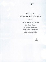 Rimsky-korsakov N. - Variations On A Theme Of Glinka - Oboe (soprano Saxophone) And Wind Ensemble (m