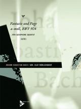 Muhlenhardt O. - Fantasie Und Fuge A-moll Bwv 904 - 4 Saxophones (satb)