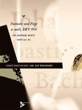 Bach J.s. - Fantasie Und Fuge A-moll Bwv 904 - 5 Saxophones (saatb, Opt. Bass)