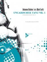 Brahms J. - Ungarischer Tanz Nr. 5 - 5 Saxophones (saatbar)