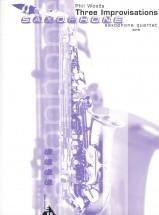 Woods P. - Three Improvisations - 4 Saxophones (satb)
