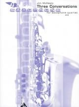 Mc Neely J. - Three Conversations - 4 Saxophones (satbar)