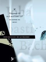 Bach J.s. - Triosonate Iii In D-moll Bwv 527 Bwv 527 - 3 Saxophones (sabar/sat)