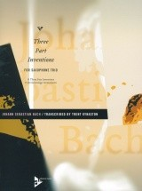 Bach J.s. - 15 Three-part Inventions - 3 Saxophones (atb)
