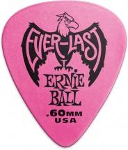 Ernie Ball Mediators Everlast Sachet De 12 Rose 0,60mm