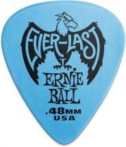 Ernie Ball Mediators Everlast Sachet De 12 Bleu 0,48mm