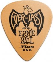 Ernie Ball Mediators Everlast Sachet De 12 Bleu 0,73mm