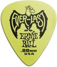 Ernie Ball Mediators Everlast Sachet De 12 Vert 0,88mm