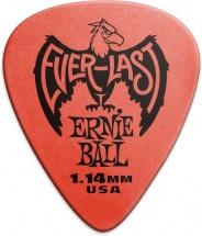 Ernie Ball Mediators Everlast Sachet De 12 Rouge 1,14mm