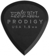Ernie Ball Mediators Prodigy Sachet De 6 Noir Mini 1,5mm