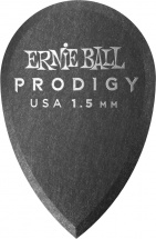 Ernie Ball Médiators Prodigy Sachet De 6 Noir Larme 1,5mm