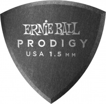 Ernie Ball Médiators Prodigy Sachet De 6 Noir Bouclier 1,5mm