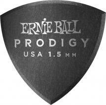Ernie Ball Médiators Prodigy Sachet De 6 Noir Bouclier Large 1,5mm