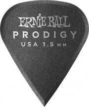 Ernie Ball Médiators Prodigy Sachet De 6 Noir Affûté 1,5mm