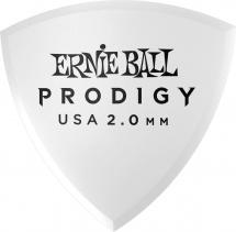 Ernie Ball Médiators Prodigy Sachet De 6 Blanc Bouclier 2mm