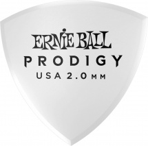 Ernie Ball Médiators Prodigy Sachet De 6 Blanc Bouclier Large 2mm