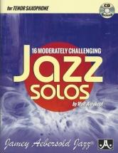 Weiskopf Walt - 16 Moderatly Challenging Jazz Solos - Tenor Saxophone