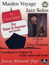 Niehaus Maiden Voyage Jazz Solos For Tenor & Soprano & Clarinet + Cd