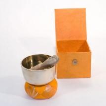 Afroton A-aks864 - Set Cadeau Bol Tibetain Argent 8cm